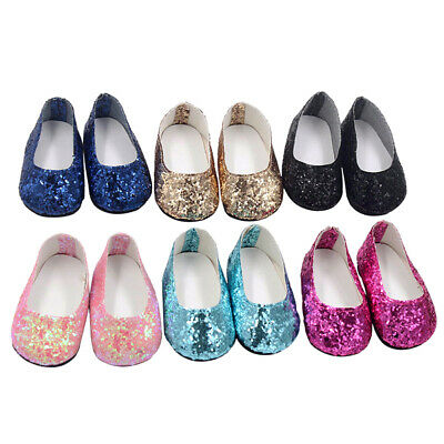 6Pairs 18 inch Accessory Doll Shoes Sparkle Sequined Shoe For American Girl Doll