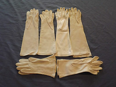 Vintage  6 Pairs Ladies Womens White Gloves