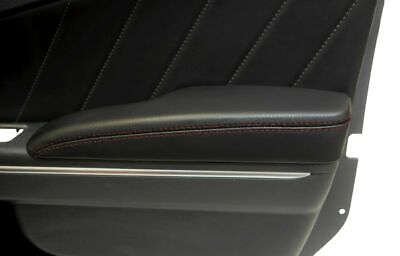 Leather Synthetic Door Armrest Cover Fits Dodge Charger 11-19 Red Stitch