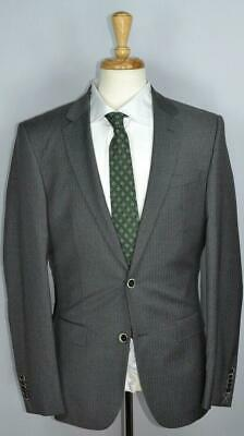 Hugo Boss Tailored Selection Very Recent Mens 2-BTN Gray Stripe Suit 38 L NEW