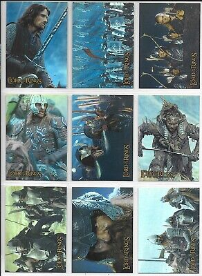 Topps Lord of the Rings TWO TOWERS PRISMATIC HOLOFOIL Set 1-10 + Wrapper 2002