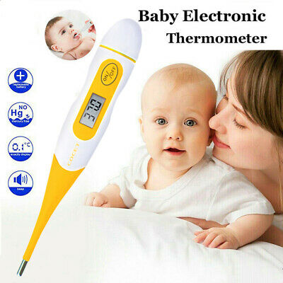 Digital Medical LCD Flexible Tip Thermometer Baby Adult Oral Mouth Rectal New
