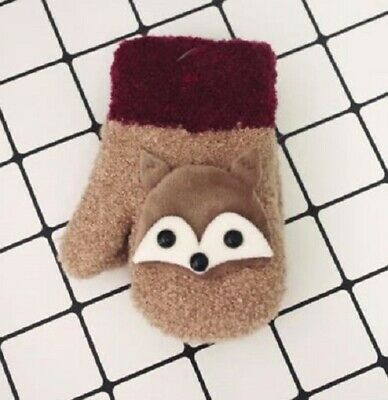 Toddler's Cute Mittens (Brown Only)