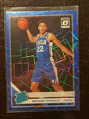 Matisse Thybulle 2019-20 Panini Donruss Optic Rated Rookie Blue Velocity Prizm
