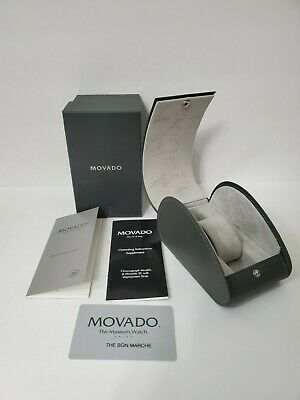 AUTHENTIC MOVADO complete Watch Presentation Gift box with booklet warranty card