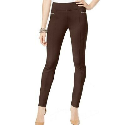 INC NEW Women's Regular Fit Zip Front Skinny Pants TEDO