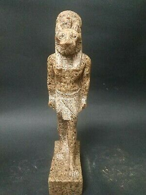 Antique Statue Rare Ancient Egyptian Pharaonic Sekhmet Granite  Bc