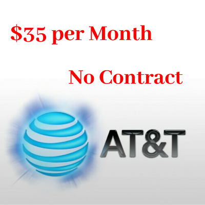 At&t 25GB UNTROTTLED Data Plan 4G LTE $35 per Month Hotspot Device No Contract