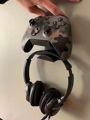Microsoff Xbox One Controller And Headset Holder Wall Mount Stand 3D Printed