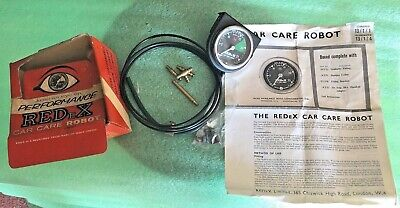 MG MINI RED eX ENGINE DASH GAUGE  VINTAGE INSTRUMENT AND FITTING NEW ROBOT