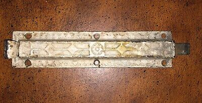 """Vintage Cast Iron Gate Door Barn Slide Latch 8""""~9"""" Chippy Rusty French"""
