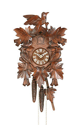 EExclusive carved cuckoo clock with mechanical 1-day-movement, 1614 EX