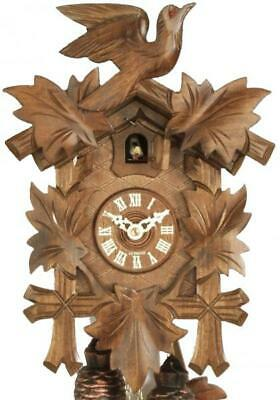 Exclusive carved cuckoo clock with mechanical 8-days-movement, 809 EX