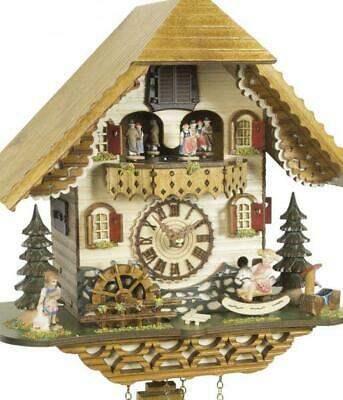 Chalet cuckoo clock with quartz movement and music (with swinging doll / ...