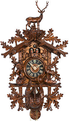 Opulent, carved cuckoo clock with mech 8-days-mov., music , dancers, 8682/8T