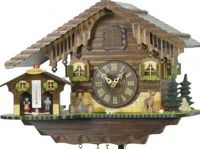 Chalet cuckoo clock with quartz movement and weather house, 415 Q