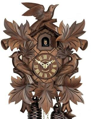 Quail-cuckoo clock, hand-carved, with mechanical 8-days-movement, 226/8