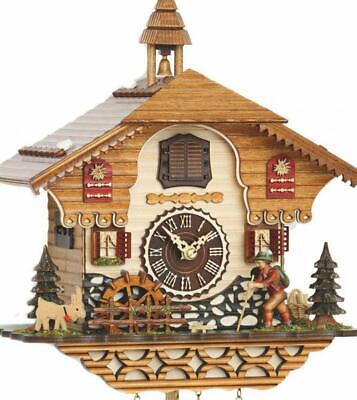Chalet cuckoo clock with quartz movement and music (with moving walker / ...