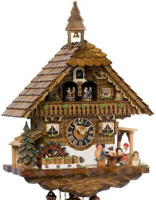 High-quality chalet cuckoo clock with mechanical 8-days-movement and music (with