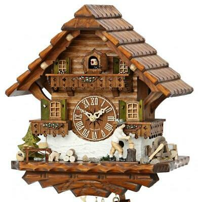 Exclusive chalet cuckoo clock with mechanical 8-days-movement and moving ...
