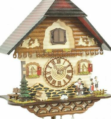 Chalet cuckoo clock with quartz movement, 453 Q HZZG