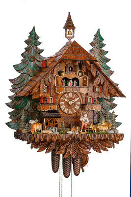 High Quality chalet cuckoo clock with mech. 8-days-mov., music, dancer 3748/8 EX