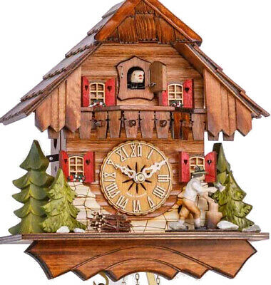 Carlet cuckoo clock with mechanical 1-days-movement, 1633 EX