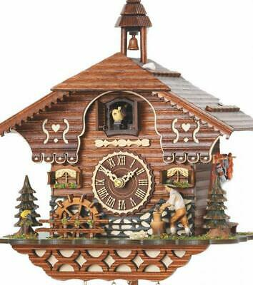 Chalet cuckoo clock with quartz movement and music (with moving woodcutter / ...