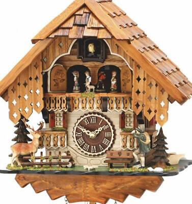 Chalet cuckoo clock with quartz movement and music (with moving dancers), 493 ..