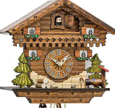 Carlet cuckoo clock with mechanical 1-days-movement, 1632 EX