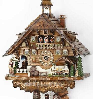 Chalet cuckoo clock with mech. 8-days-mov., music and moving elements, 3740/8 EX