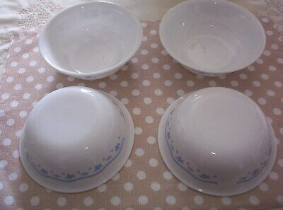 Corelle Morning Blue Pattern 6-1/4 Inch Cereal Bowls