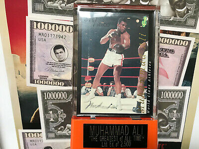 MUHAMMAD ALI AUTO COA 1992 AUTOGRAPH CLASSIC WORLD CLASS WITH STAND signed - QVC