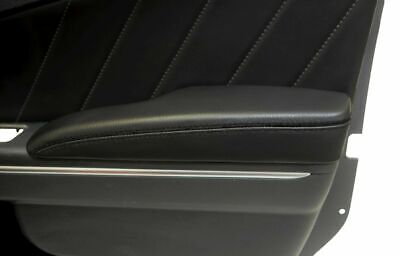 Leather Synthetic Door Armrest Cover Fits Dodge Charger 11-19 Black