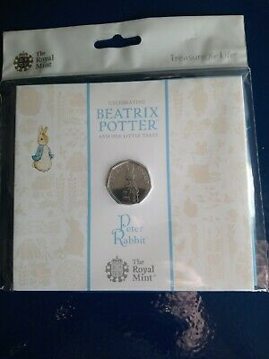2019 Peter Rabbit 50p FIFTY PENCE Coin BRILLIANT UNC sealed Royal Mint PACK