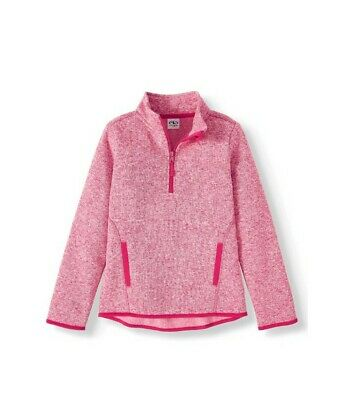 Girls Athletic Works Pink Fleece Pull-Over (Size L/10-12) NEW Tropical Blossom