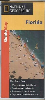National Geographic MapQuest State Guide Map FLORIDA 1999 - plastic -laminated