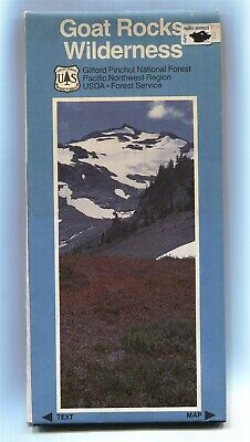 USDA Forest Service map 🐐 GOAT ROCKS Wilderness National Forest Washington 1985