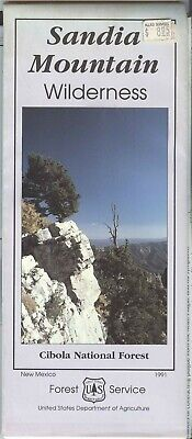 USDA National Forest Service Map SANDIA MOUNTIAN Wilderness 1991 New Mexico