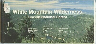 USDA National Forest Service Map WHITE MOUNTAIN Wilderness 1988 - Smokey Bear NM