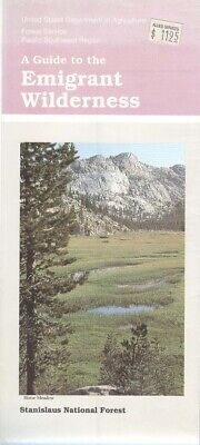 USDA National Forest Service map Stanislaus NF - EMIGRANT Wilderness - 1990