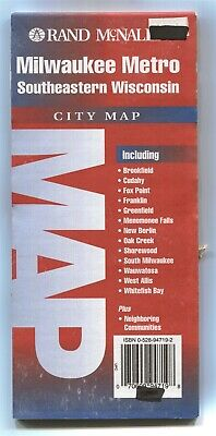 Rand-McNally city map: MILWAUKEE METRO Southeastern Wisconsin © 1997 Seeger 🗺⚠