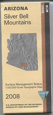 USGS BLM edition topographic map Arizona SILVER BELL MOUNTAINS 2008