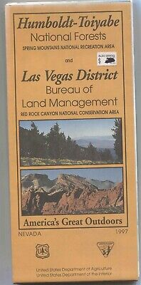 USDA National Forest Service map HUMBOLDT-TOIYABE 1997 Red Rock BLM Spring Mtn.