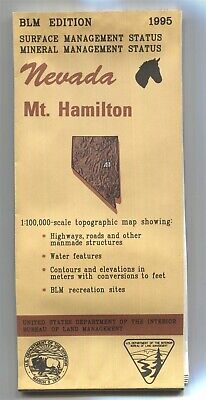 USGS BLM edition topographic map Nevada MT. HAMILTON -1995- mineral 100K
