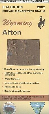 USGS BLM edition topographic map Wyoming AFTON - 2002 - surface - 100K -