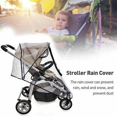 Universal Baby Carriage Rain Cover Waterproof For Stroller Pushchair Transparent