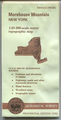 USGS Topographic Map MOREHOUSE MOUNTAIN - New York - 1990 Provisional - 25K -