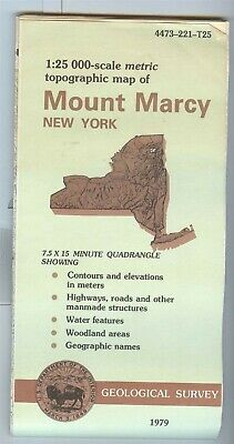 USGS Topographic Map MOUNT MARCY New York 1979 NY 1:25,000 7.5 x 15 minute