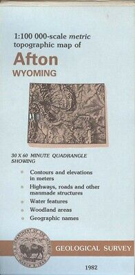 USGS Topographic Map AFTON Wyoming 1982 - excellent - 100K -